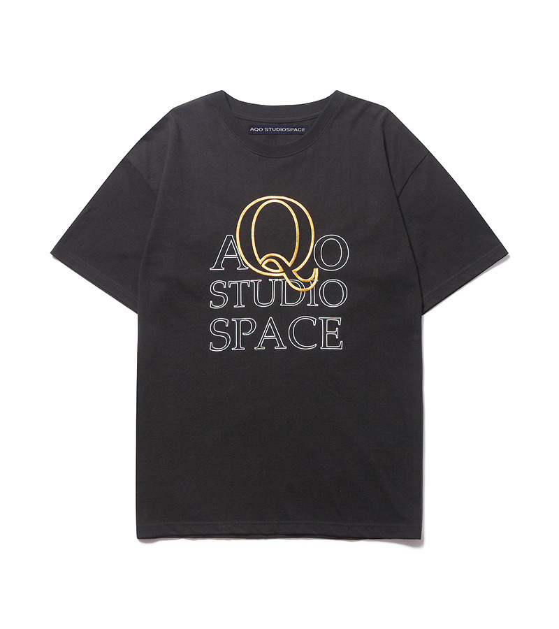 AQO Q LOGO T SHIRT BLACK