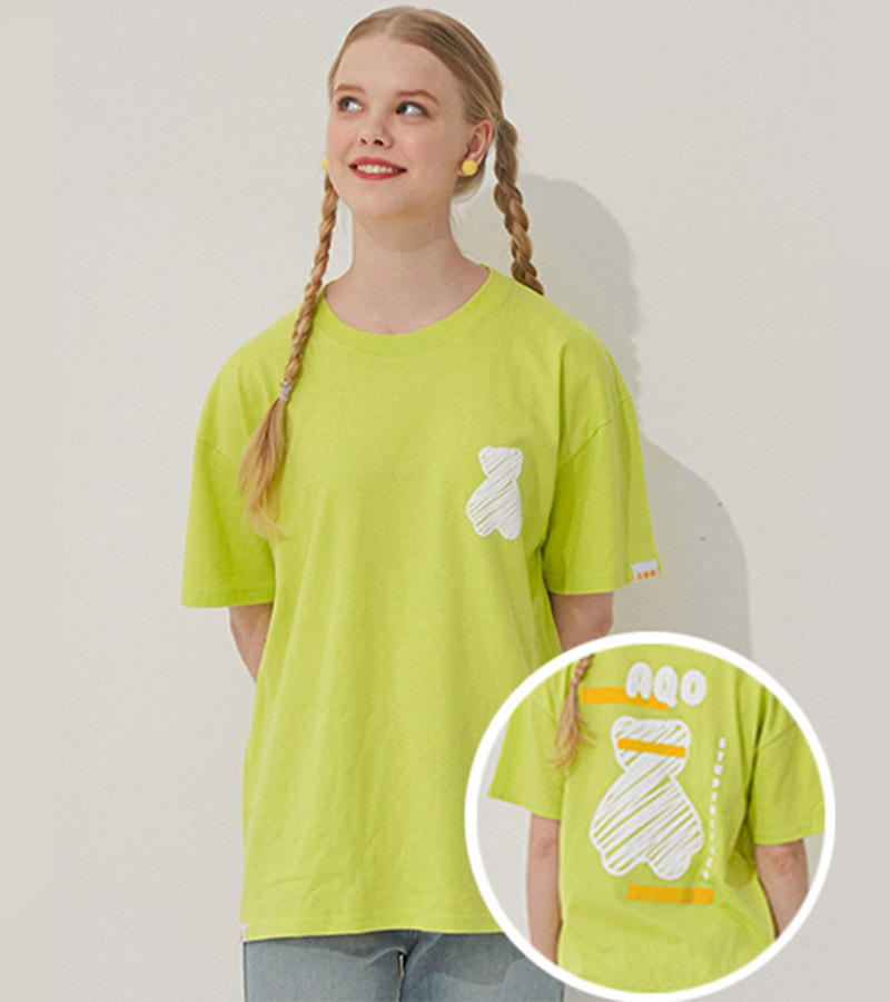 AQO BEAR T SHIRTS NEON
