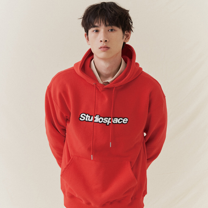AQO HOODIE WITH LOGO RED