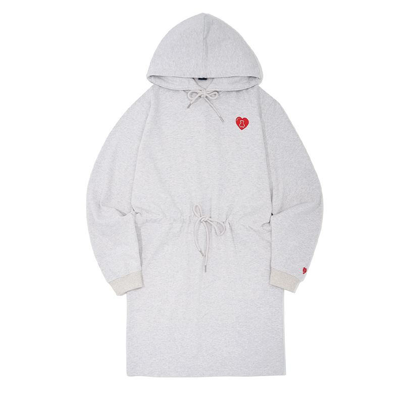 AQO HEART HOOD ONE-PIECE GREY